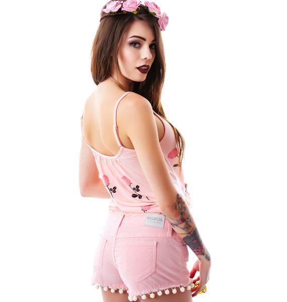 Wildfox Couture Peaches Lara Denim Shorts