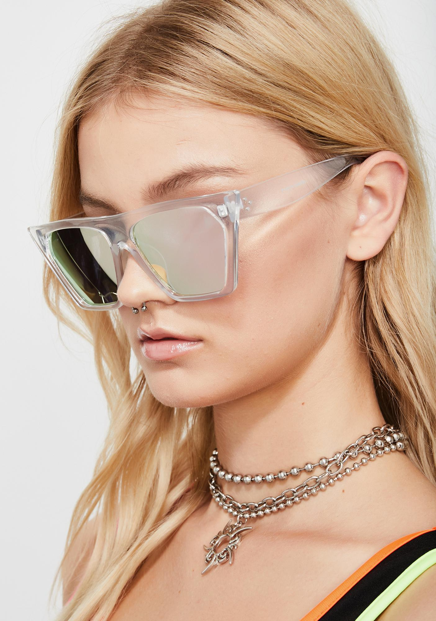 Techno Baddie Cat Eye Sunglasses
