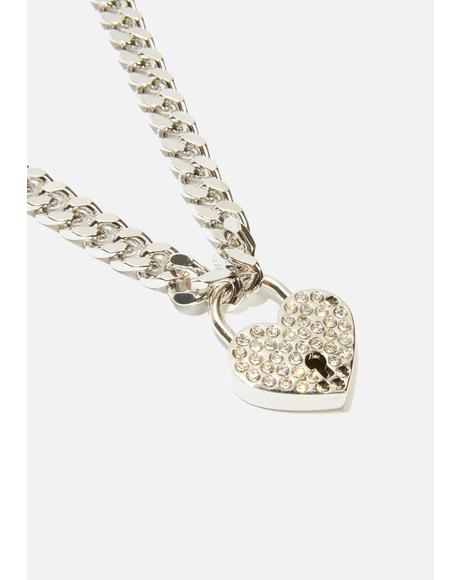Love Warning Chain Necklace