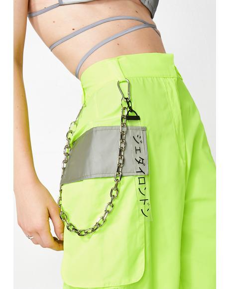 Slime Neon Reflectionz Cargo Shorts