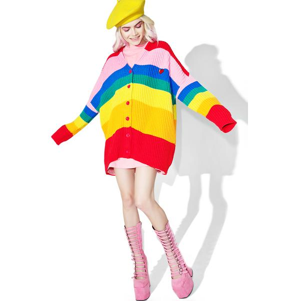 Lazy Oaf Rainbow Cardigan