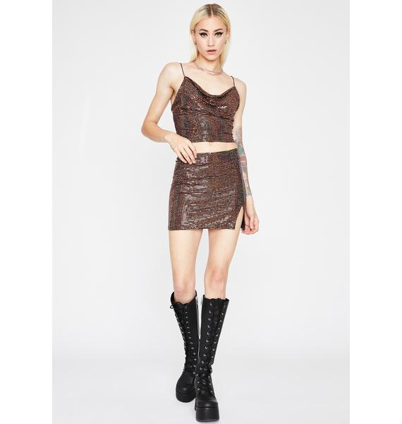 Syrup Glossy Galore Sequin Skirt