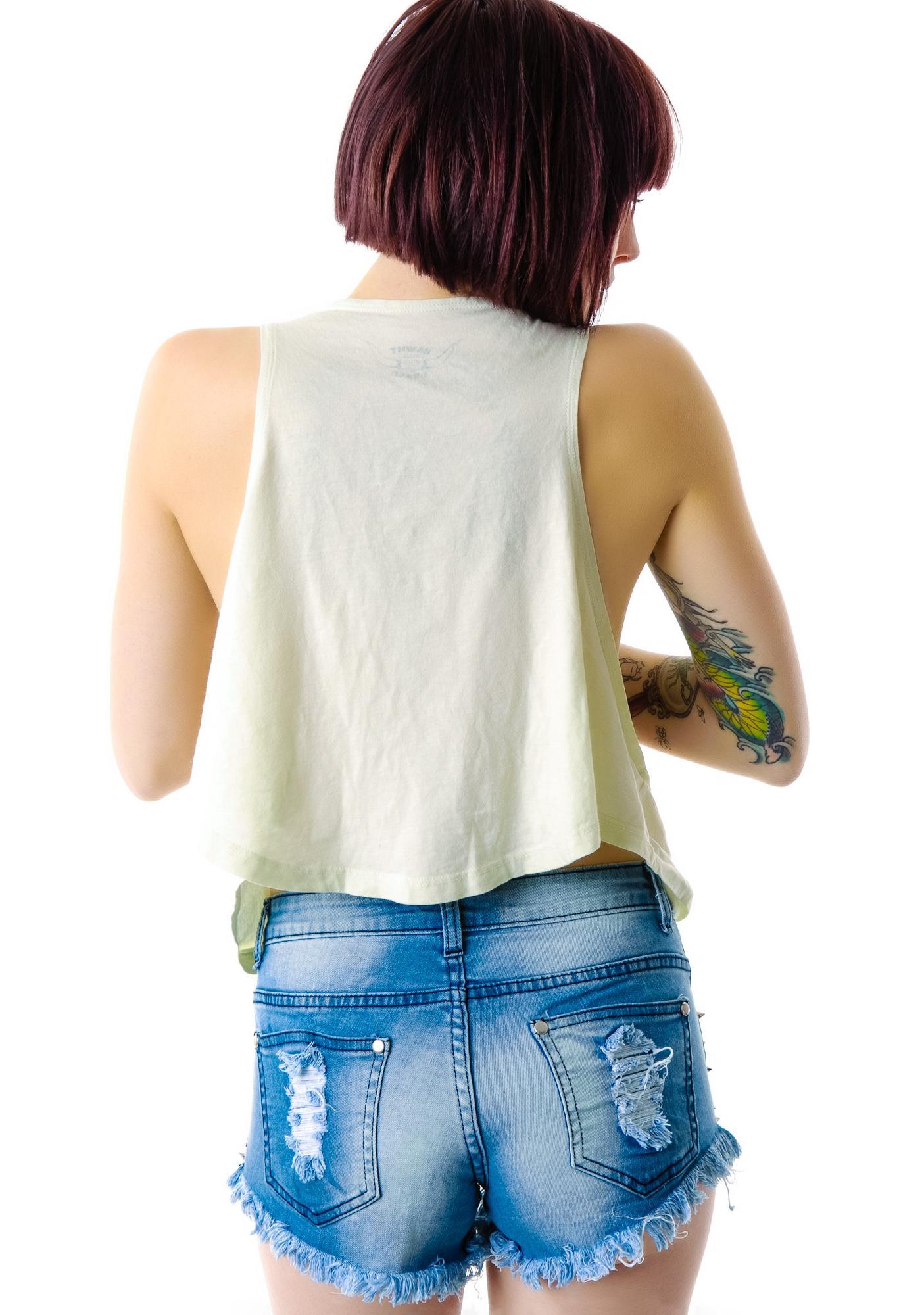 Stud Finder Denim Shorts