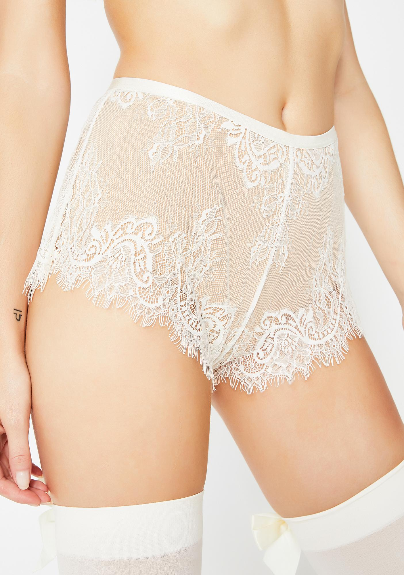 Sugar Thrillz Frosted Sweet Fantasy Lace Shorts