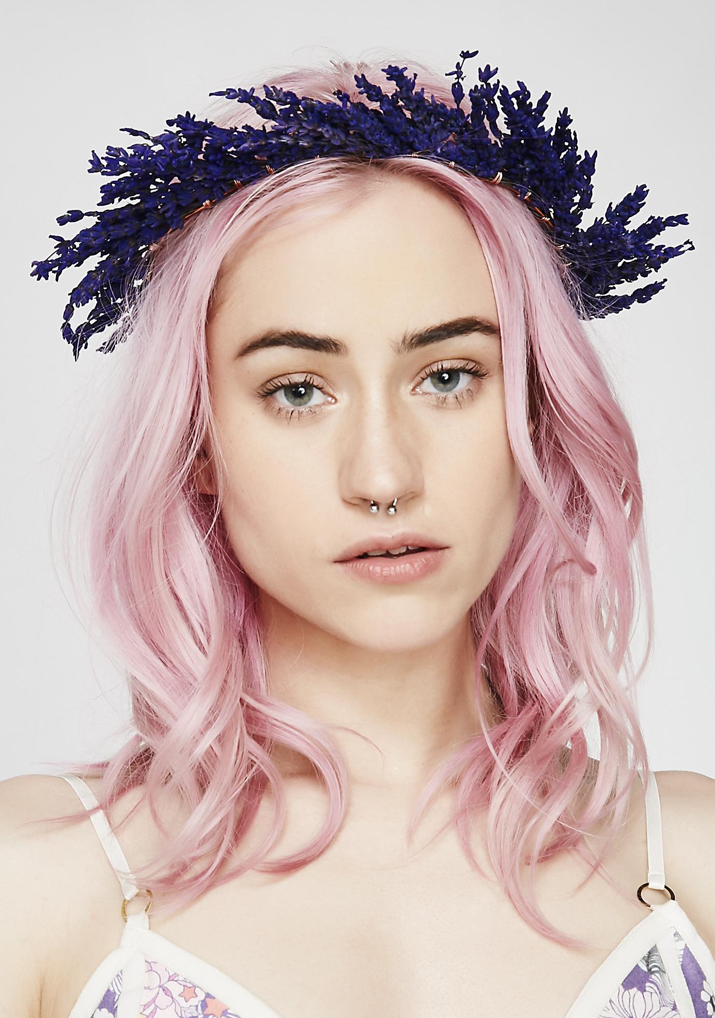 Rock n rose lavender dried flower crown dolls kill rock n rose lavender dried flower crown izmirmasajfo