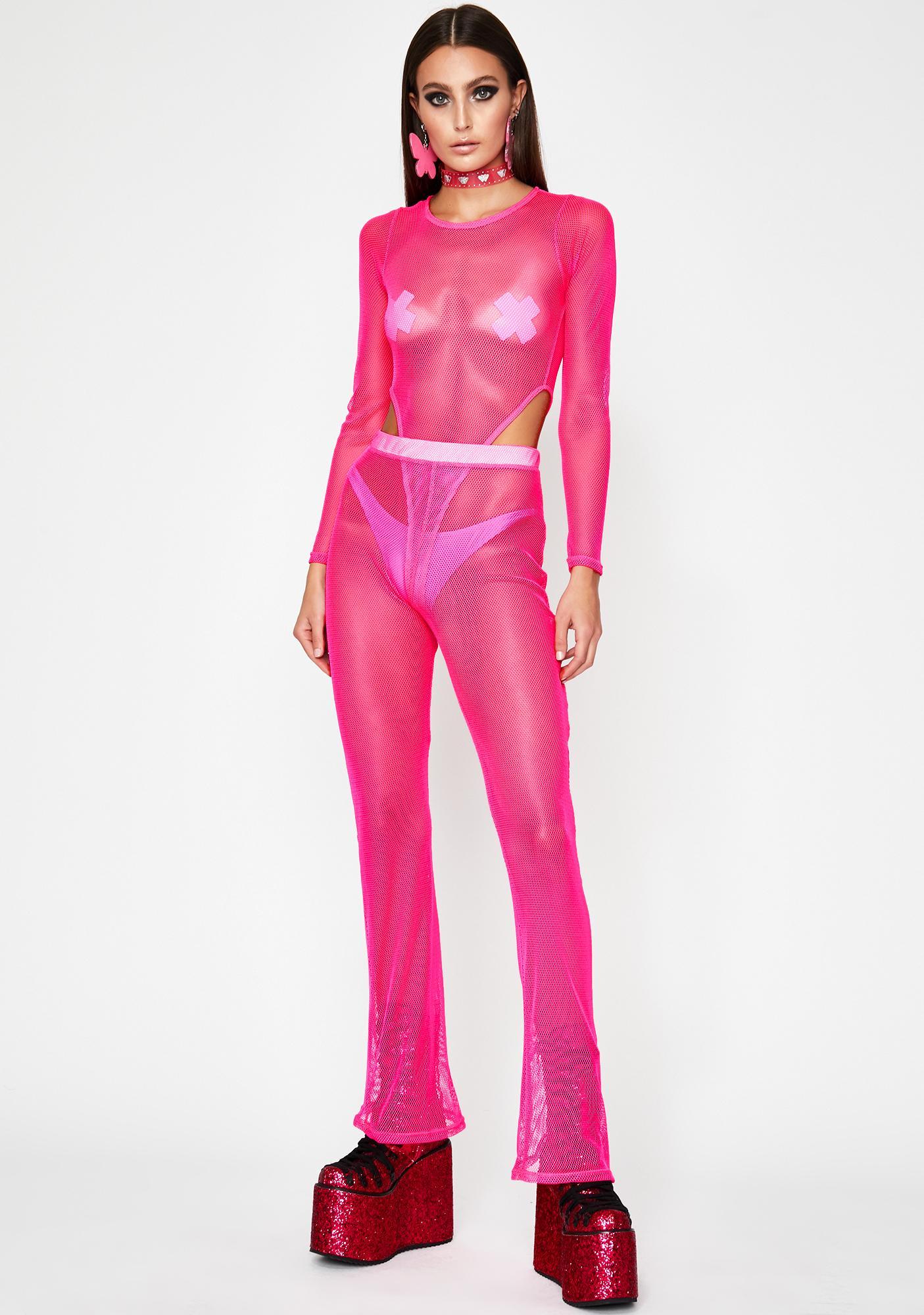 Candy Infinite Illusion Mesh Bodysuit