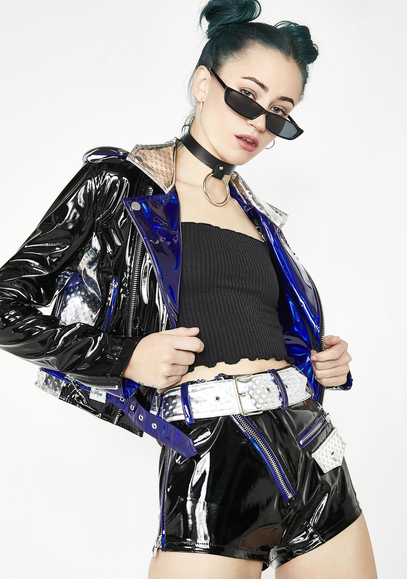 Current Mood Techno Diva Moto Shorts