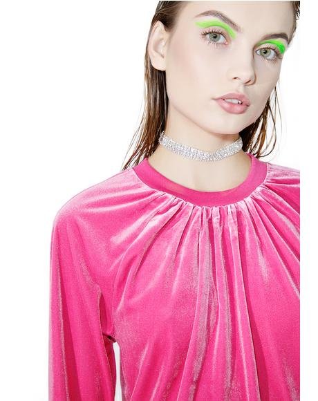 Pink Velvet Sweater
