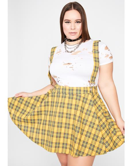 Sunny Always Class Act Suspender Skirt