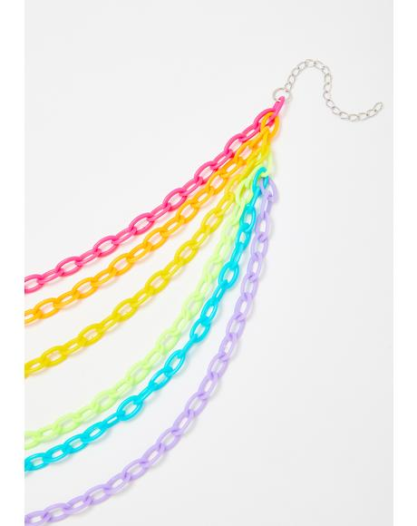 Prism Trip Chain Necklace