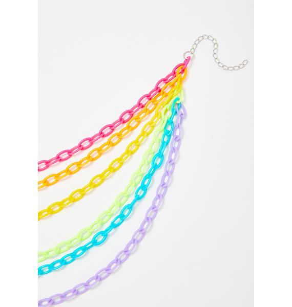 Prism Trip Chain Necklace
