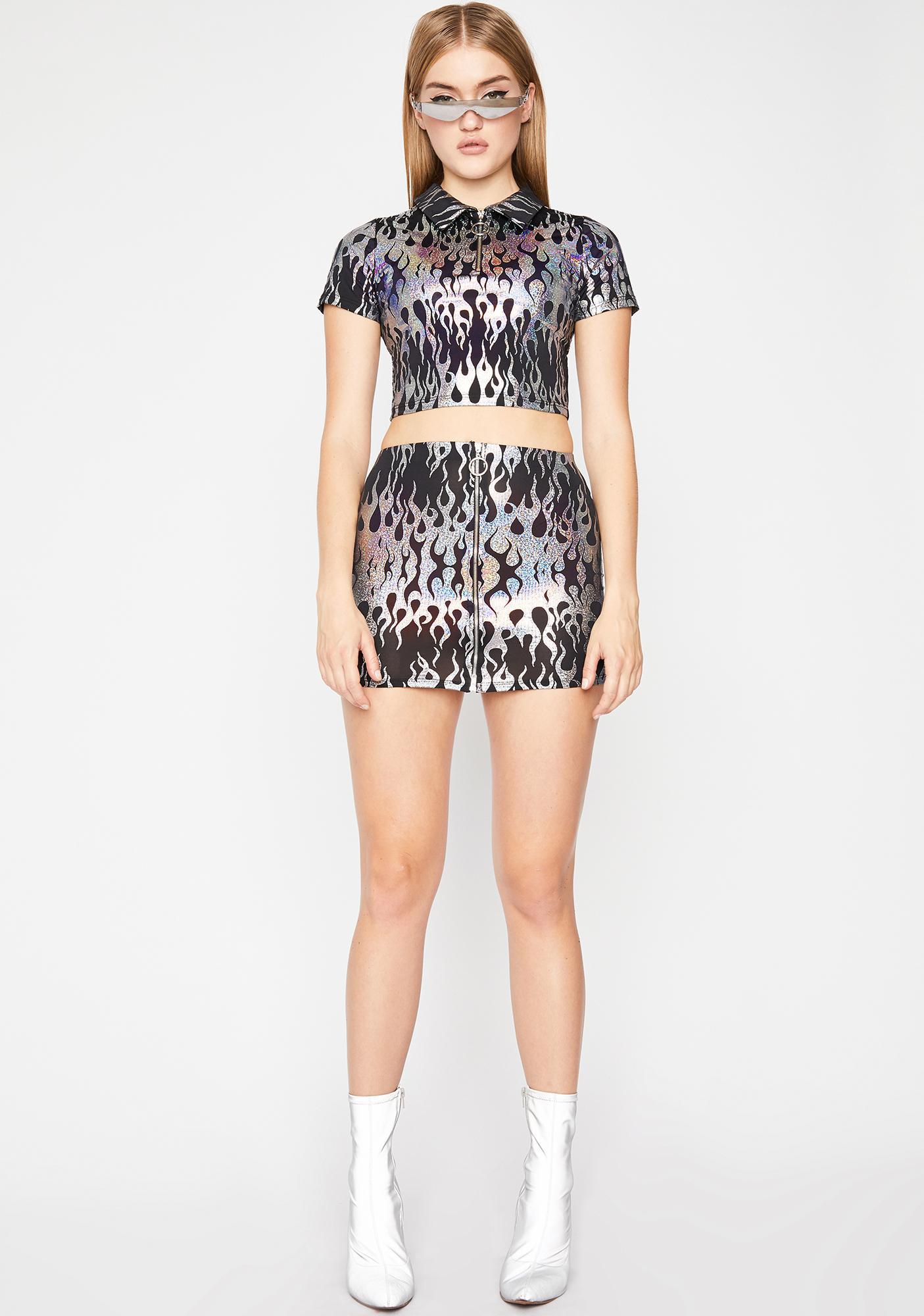 Chrome Hellrazor Mini Skirt
