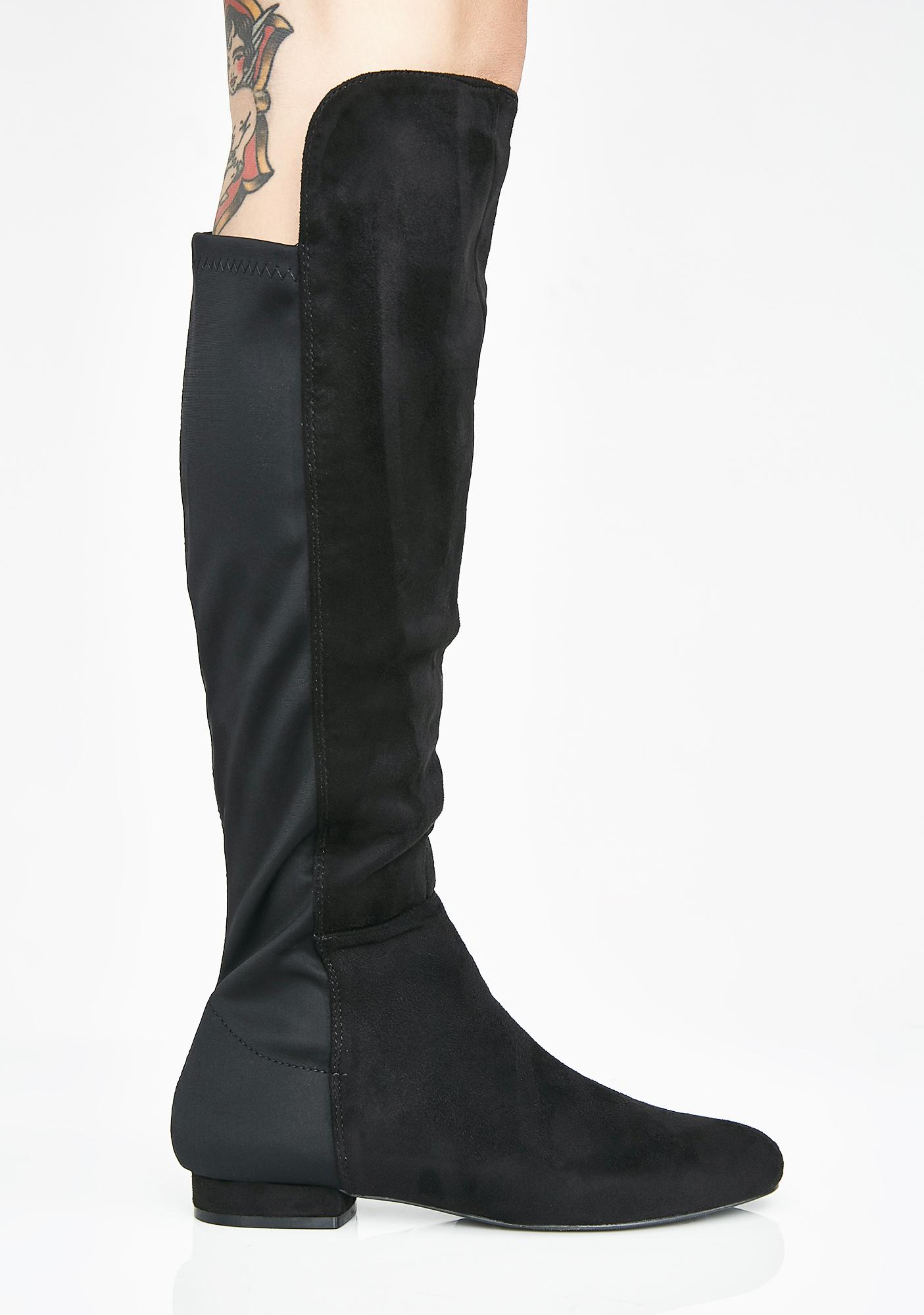 252501f4a40 ... Step To The Side Knee High Boots ...