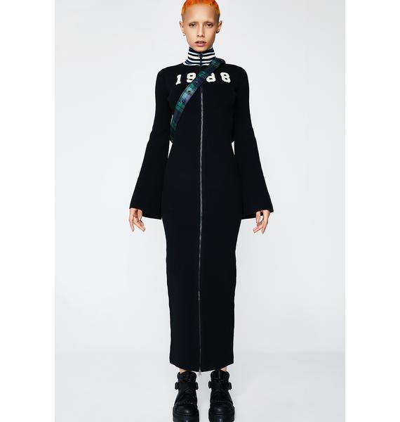 PUMA FENTY PUMA By Rihanna Zip-Up Sweater Maxi Dress