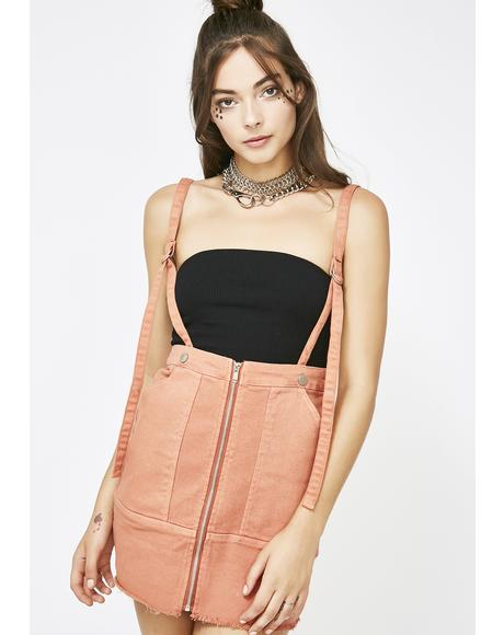 One Way Ticket Suspender Skirt