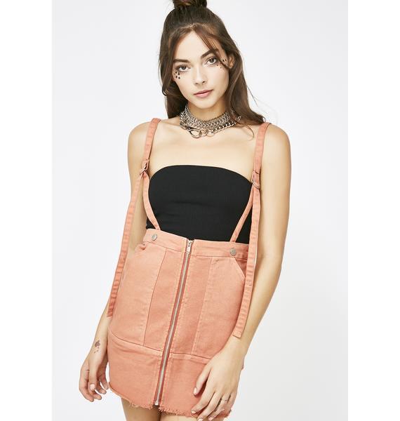 One Way Ticket Suspender Skirt