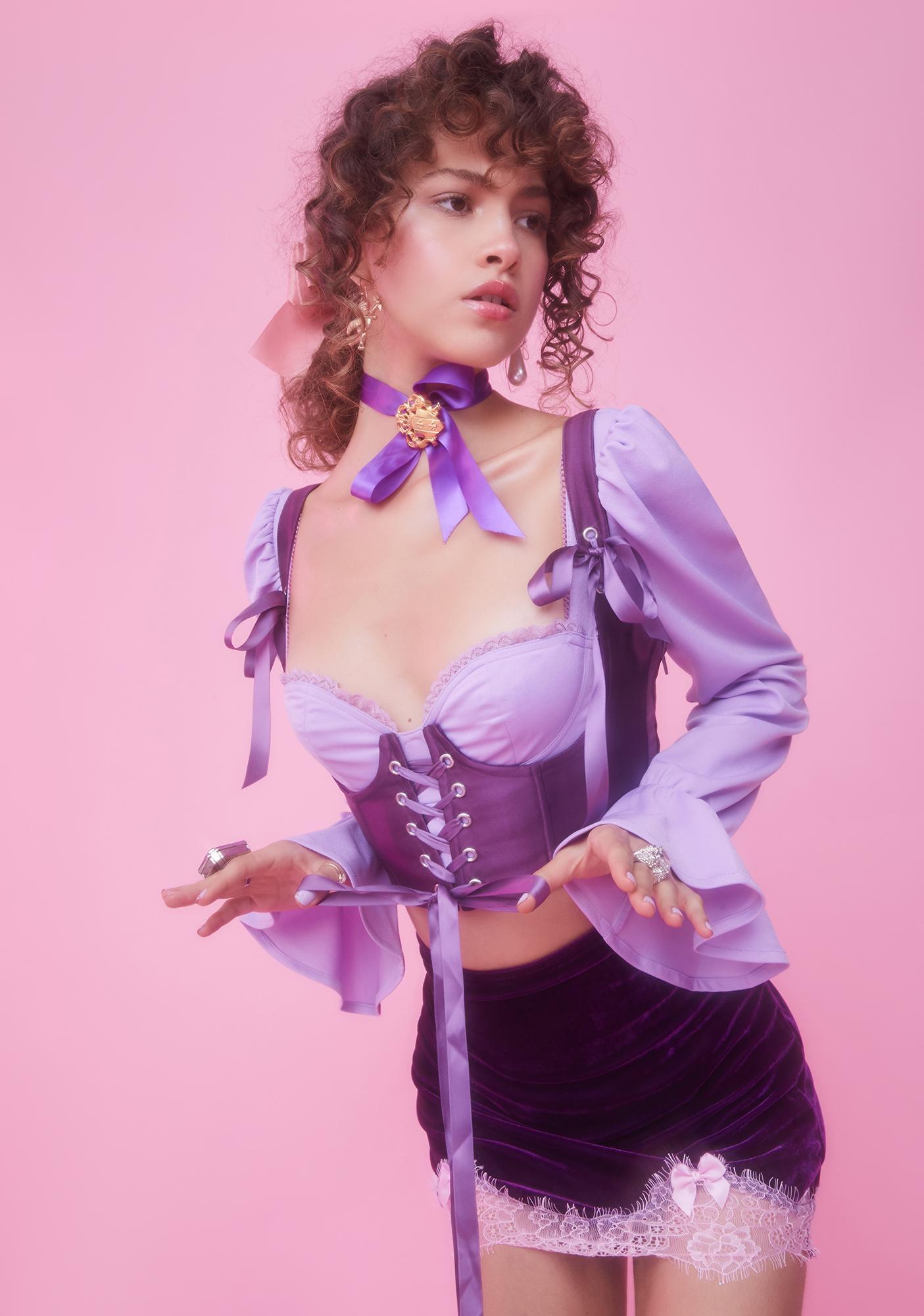 Sugar Thrillz Lilac My Beloved Underbust Corset Top