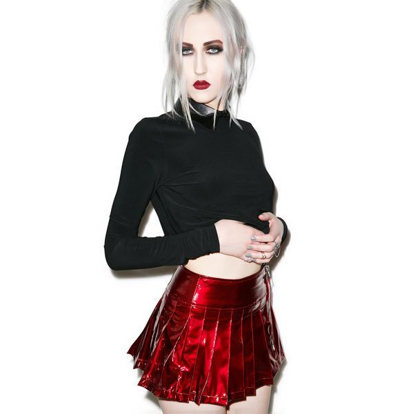 Lip Service Please Me Pleated Skirt