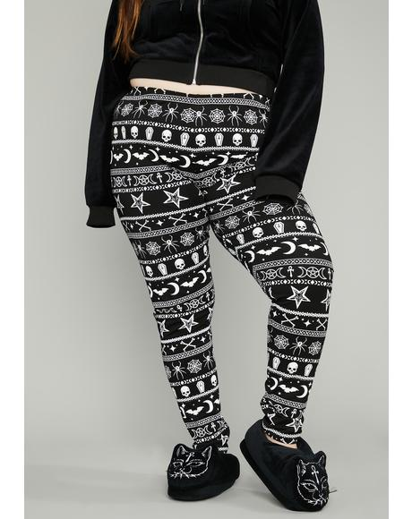 Real Festive Fear Graphic Leggings