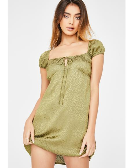 Khaki Cheetah Gaval Dress
