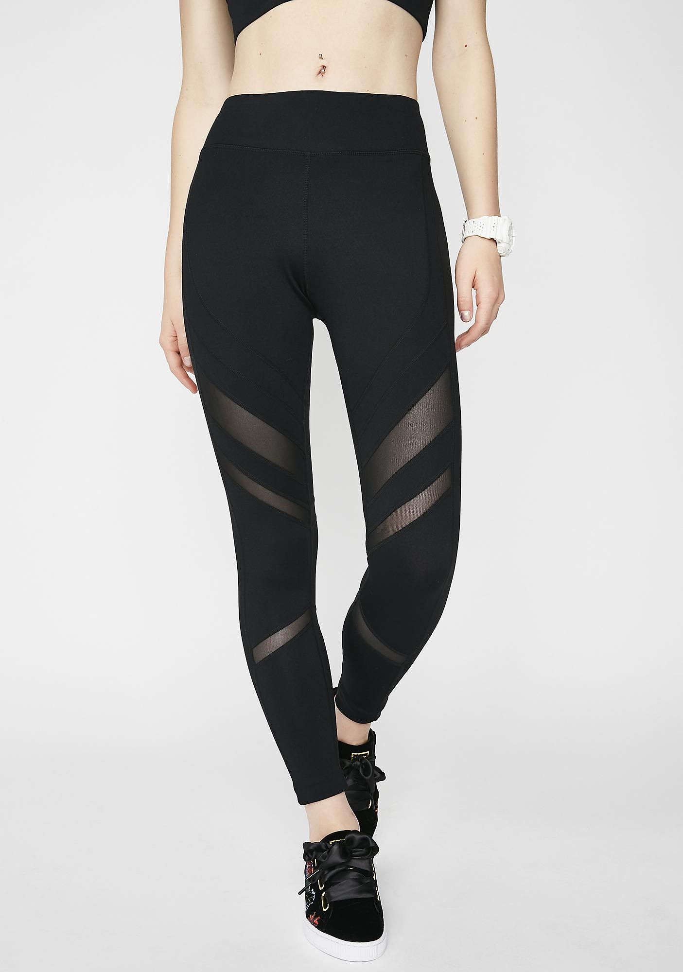 Onyx Straight Stuntin' Mesh Leggings