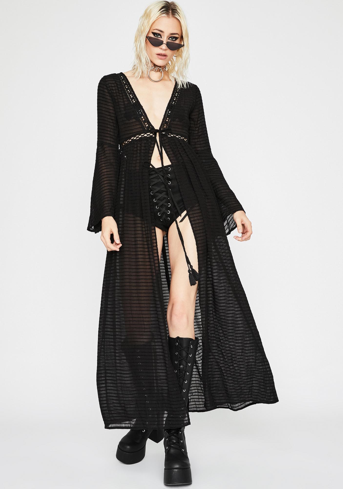 Darkness Within Sheer Kimono