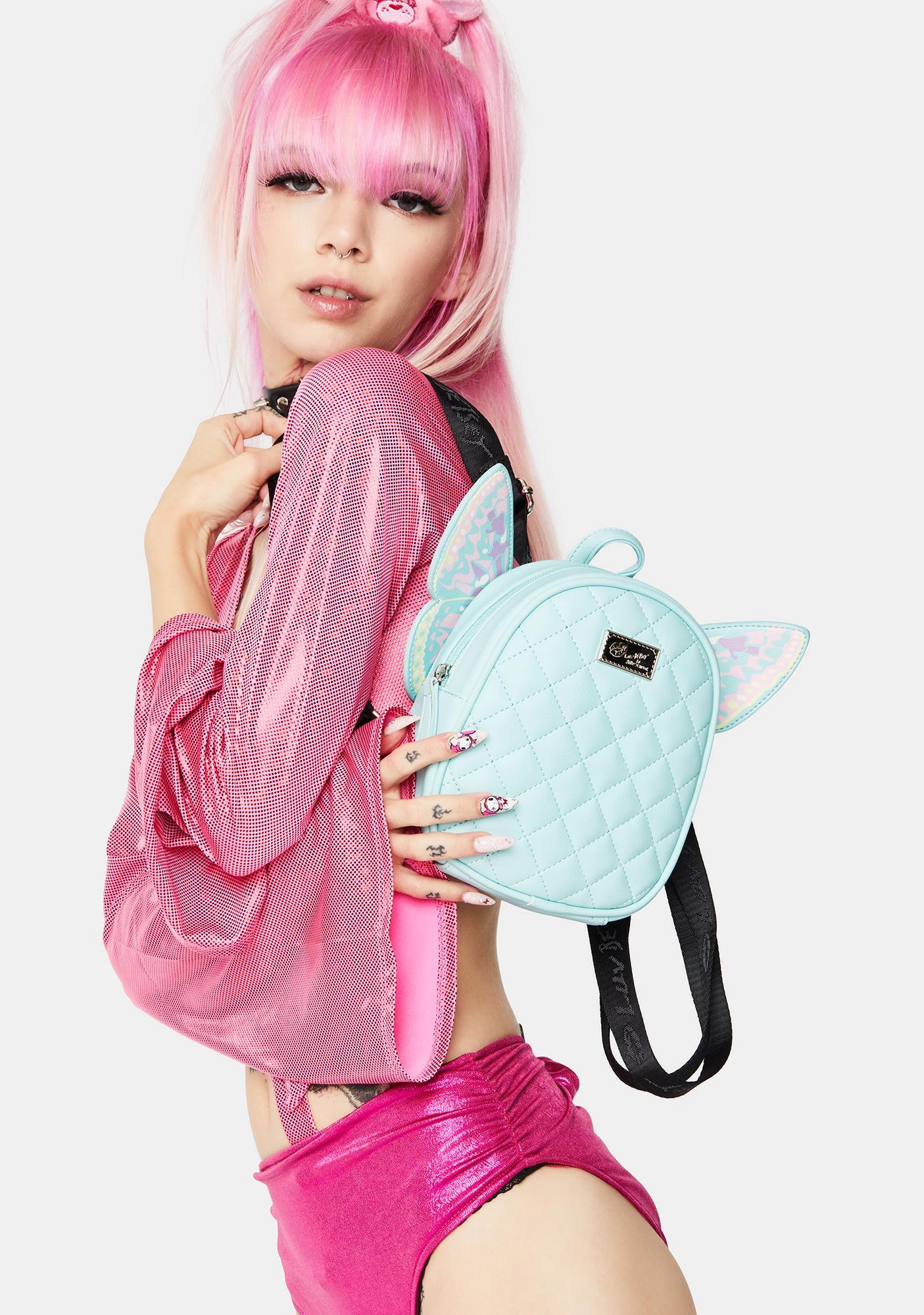Betsey Johnson Mint Butterfly Backpack