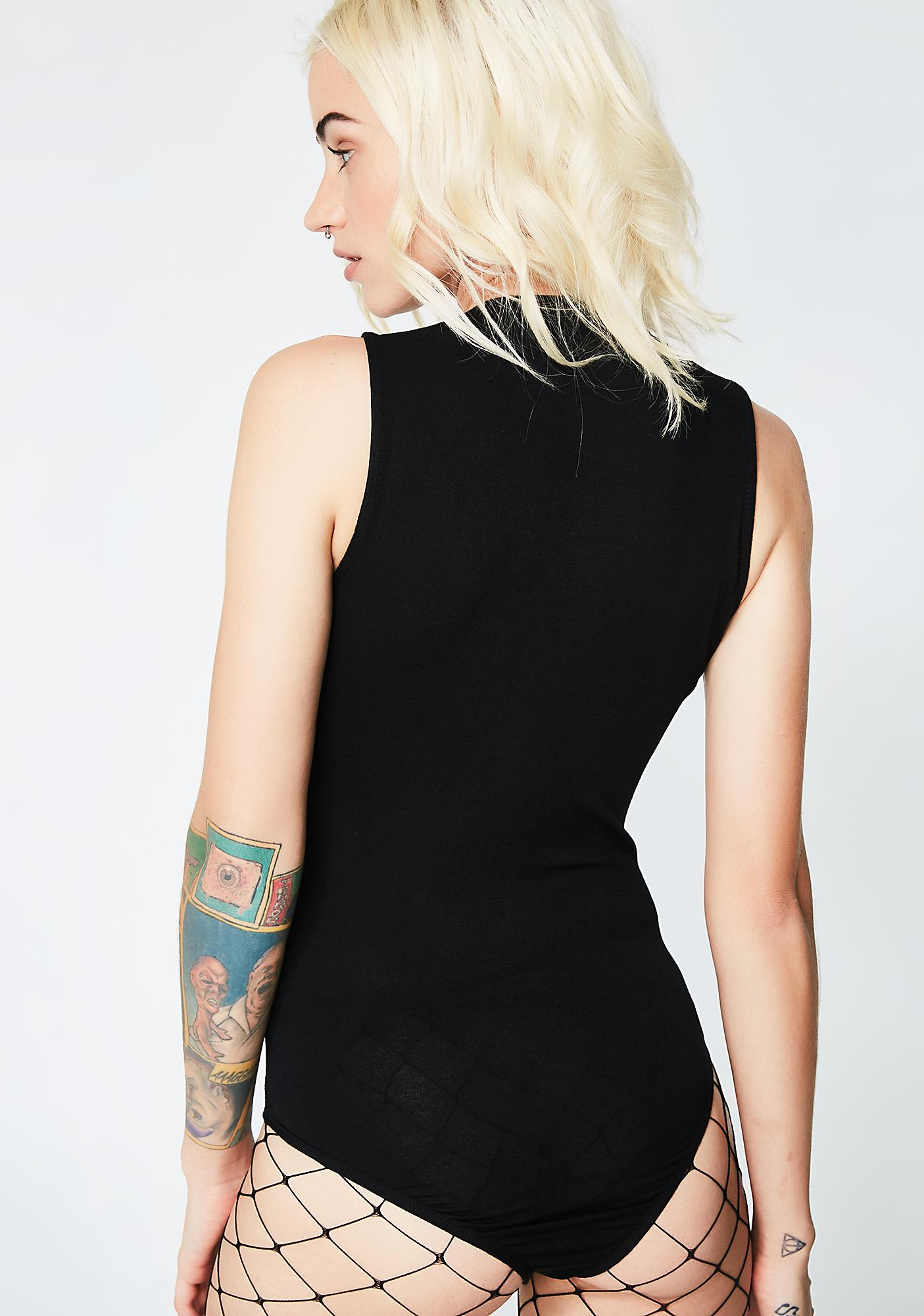 Sweet Disaster Lace-Up Bodysuit