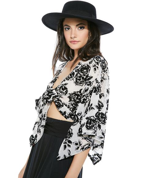 Black Dollia Floral Blouse