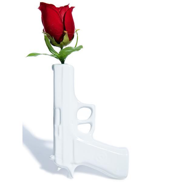 Blooms Not Bulletz Wall Vase
