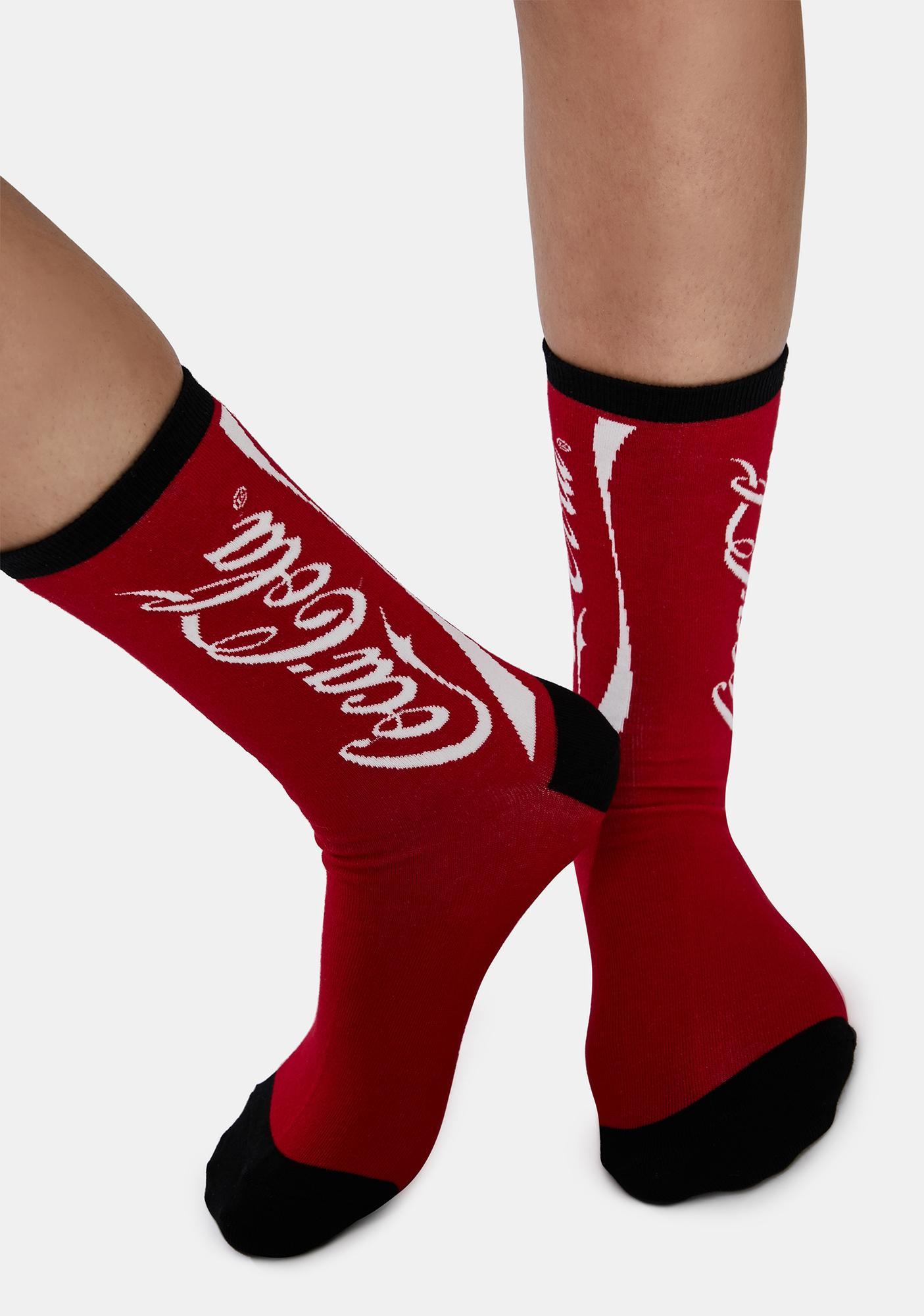 Socksmith Design Cherry Coca Cola Crew Socks