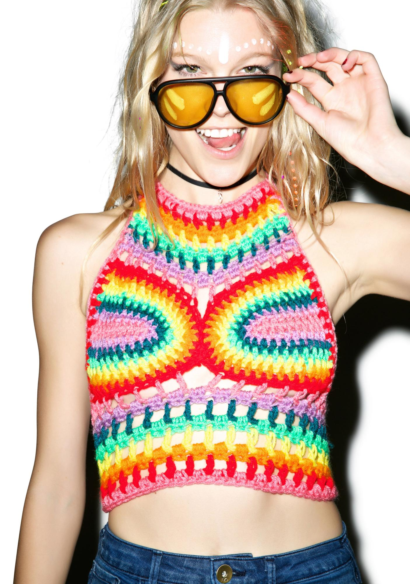 Rainbow Haze Crop Top