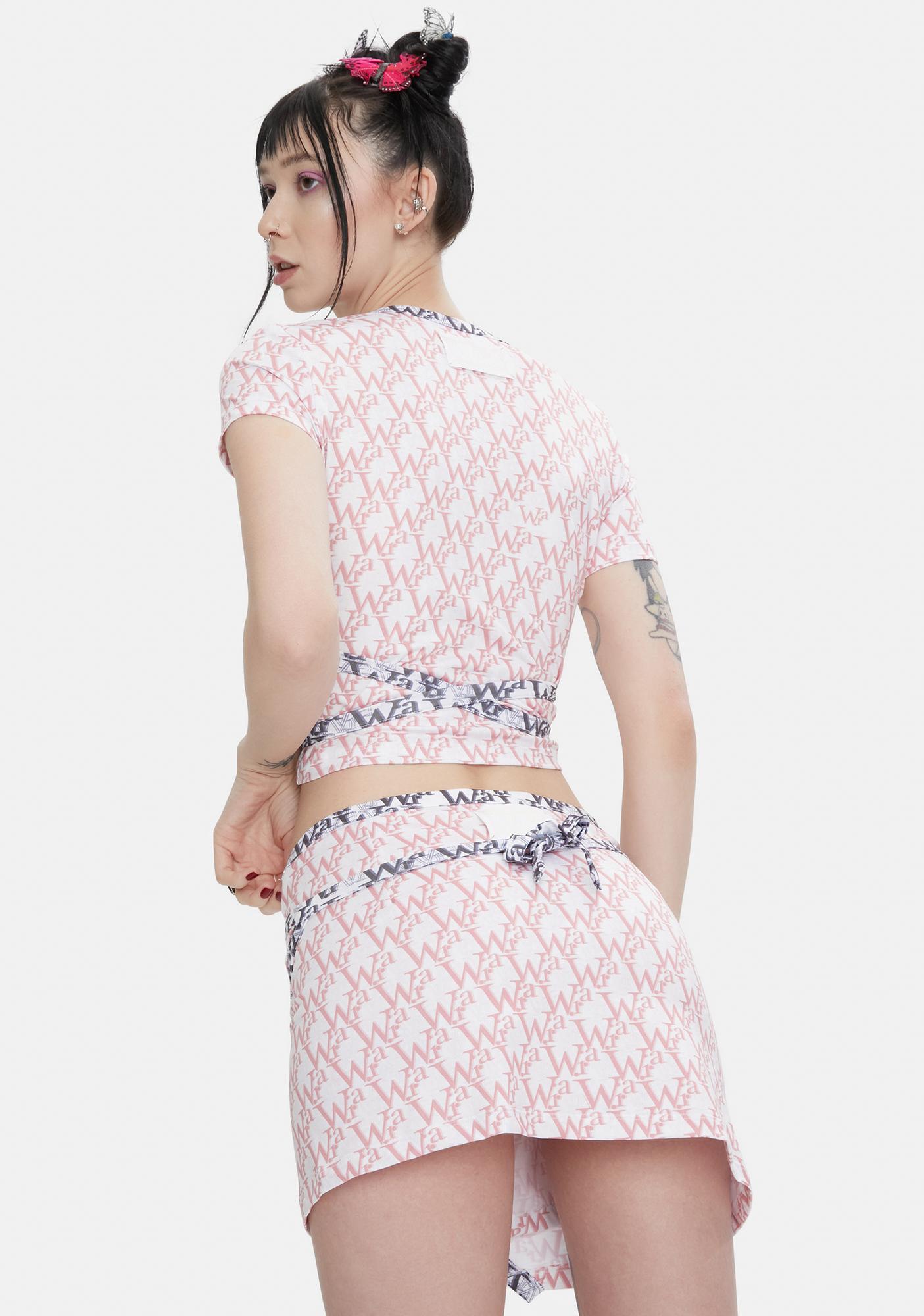 W.I.A Bane Slip Mini Skirt