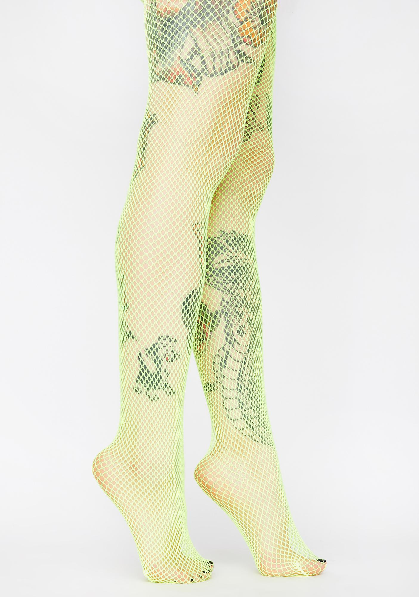 Can't Be Caught Fishnet Tights