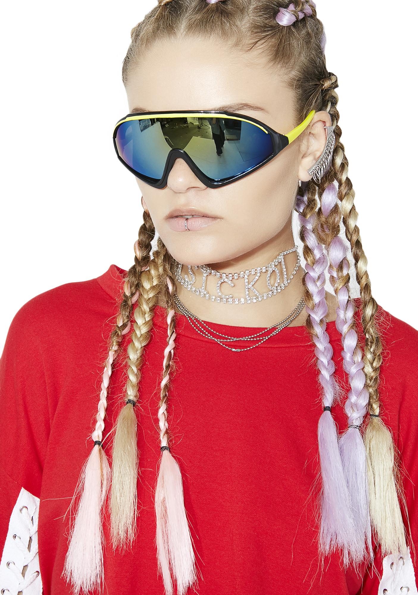Rave Yellow Shield Sunglasses