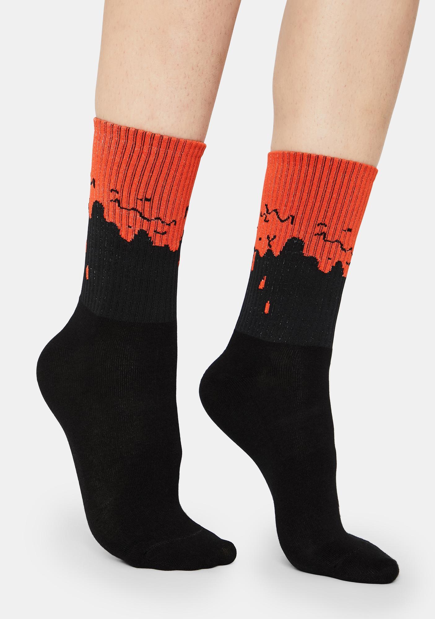 Blood Dripping Crew Socks