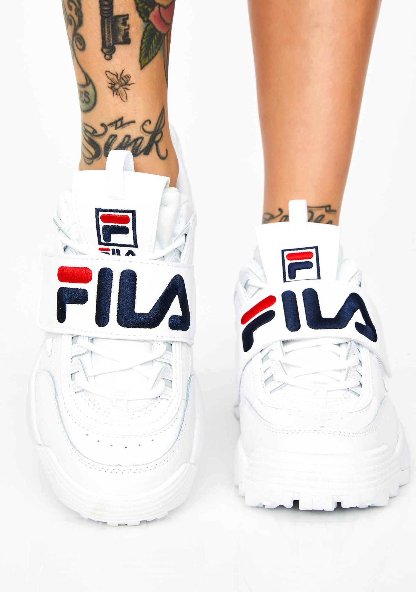 7d3cd819eab88 Fila Disruptor II Premium Applique Sneakers