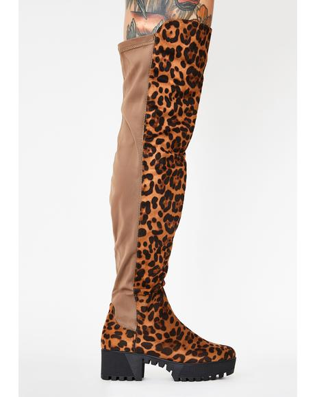 Kitty Viral Vixen Knee High Boots