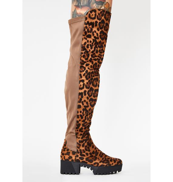 Kitty Viral Vixen Knee High Boots