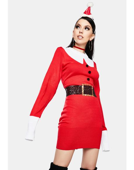 Santa Sweater Dress