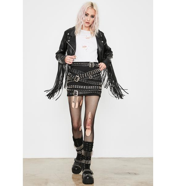 Current Mood Wicked Cash Strapped Mini Skirt