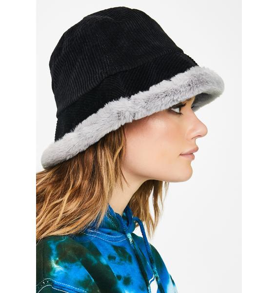 Bad Doll Baby Corduroy Bucket Hat