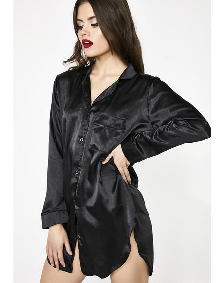 Indulge Me Satin Sleep Shirt