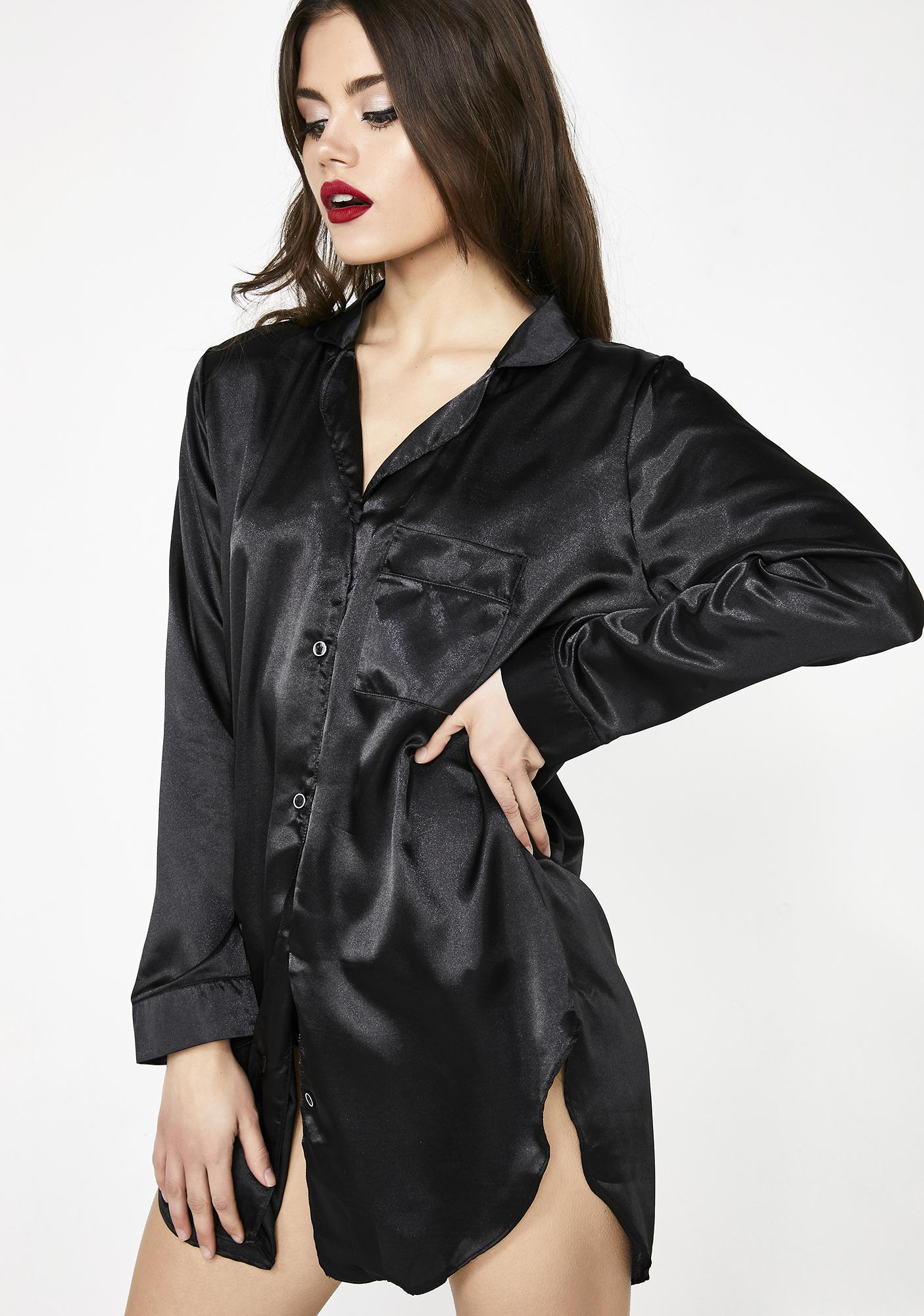 Indulge Me Satin Sleep Shirt by Be Wicked