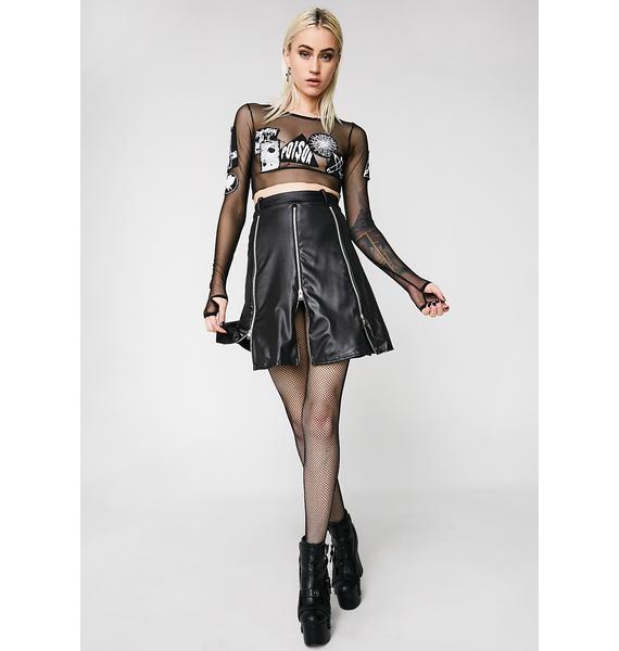 Disturbia Zip Skirt