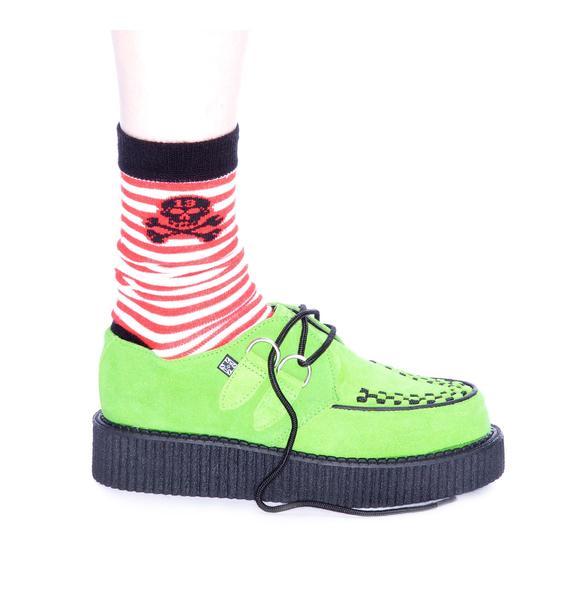 T.U.K. Neon Green Mondo Creeper