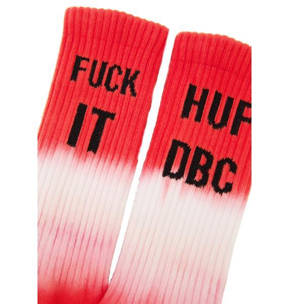 HUF DBC Fuck It Crew Socks