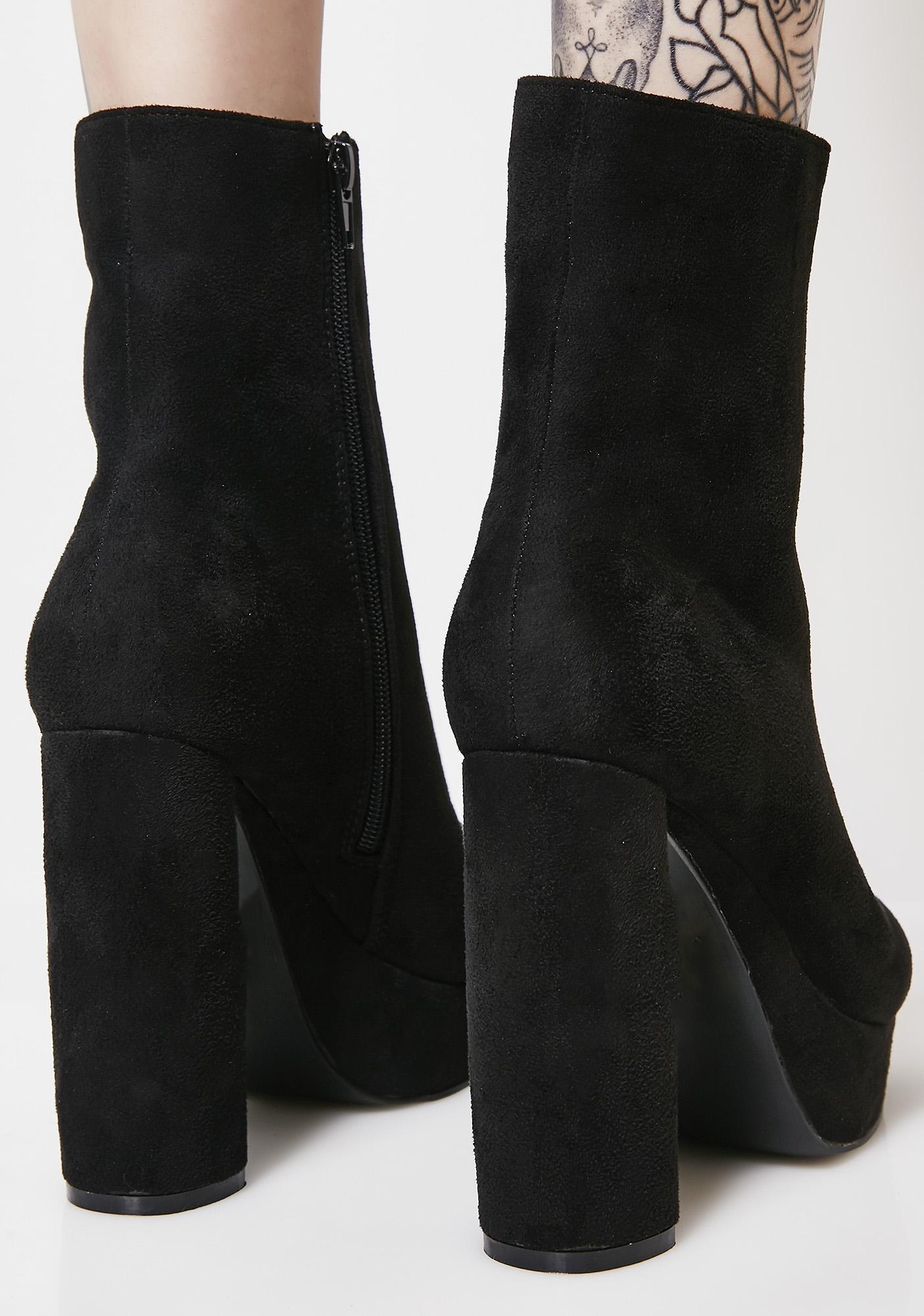 Public Desire Sceptic Zip Ankle Boots