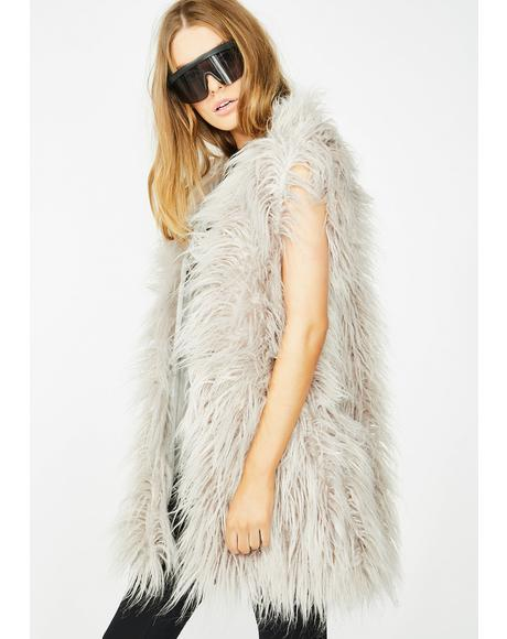 Arctic Empress Fur Vest