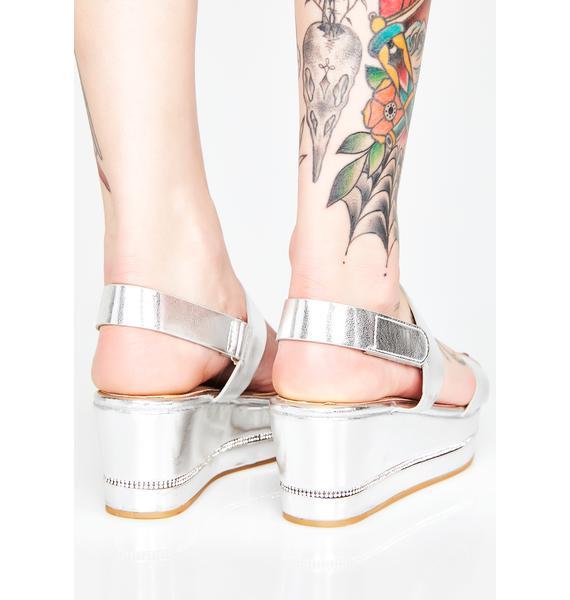 Chrome Dont Even Try Platform Sandals